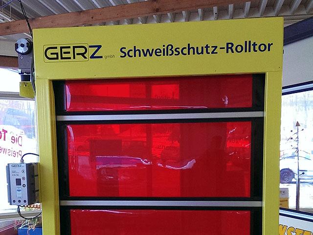 Schweißschutz-Schnelllauf-Rolltor von GERZ GmbH