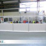 Bereichs- und Fahrwegeabtrennung mit Industrie-Trennwänden von GERZ GmbH