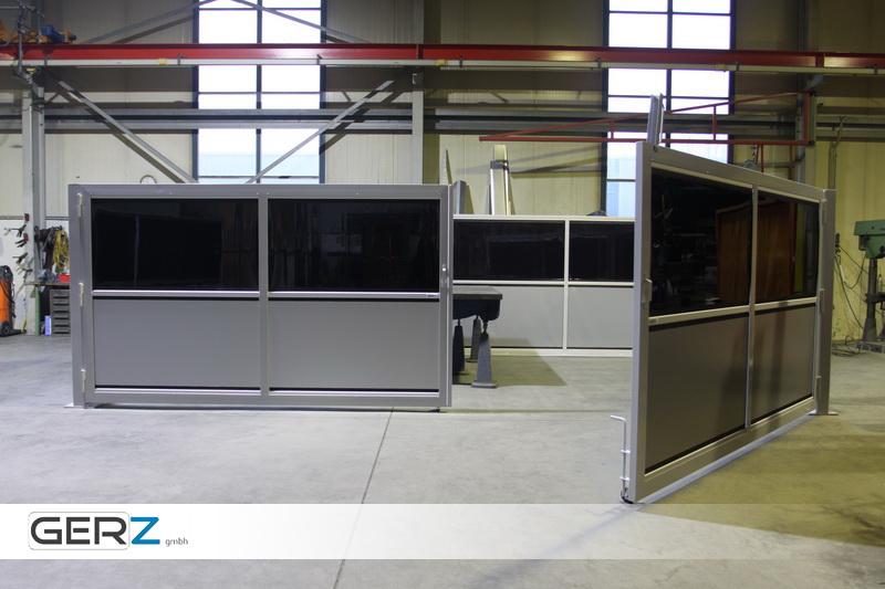 GERZ Schweißschutzwand - das Modulsystem bietet Aufstellmöglichkeiten in allen erdenklichen Größen und Positionen.