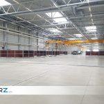 Referenz Industriehalle ABUS - GERZ GmbH Bereichsabtrennung