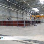 Referenz Industriehalle ABUS - GERZ GmbH Industrie Trennwand
